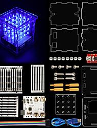 2017 nye! keyestudio 4x4x4 ledet kubesæt med arduino brugervejledning