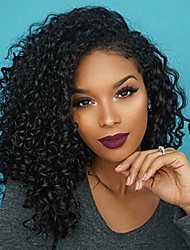 cheap -Human Hair Lace Front Wig Brazilian Hair Curly Kinky Curly 130% Density 100% Virgin Middle Part Short Medium Long Women's Human Hair Lace