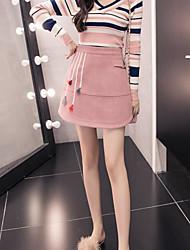 cheap -Women's Contemporary Classic & Timeless Skirt Skirts - Solid Color High Waist