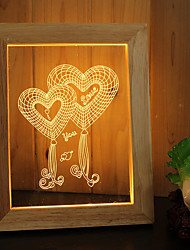 cheap -1 Set Of Home Decoration Acrylic 3D Night Light LED Lamp USB Mood Lamp, Photo Frame Light, Dimming, 3W, Love