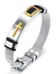 Муж. Браслет цельное кольцо Титановая сталь Бижутерия Назначение Свадьба Для вечеринок