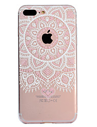 abordables -Coque Pour Apple iPhone X iPhone 8 Plus Motif Coque Mandala Impression de dentelle Flexible TPU pour iPhone X iPhone 8 Plus iPhone 8