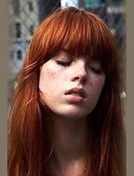 cheap -Women Human Hair Capless Wigs Medium Auburn Honey Blonde Black Long Straight