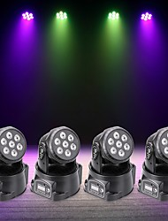 U'King 4pcs LED Stage Light / Spot Light DMX 512 Master-Slave Sound-Activated Auto 70 for Outdoor Party Stage Wedding Club Professional