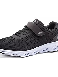 cheap -Men's Shoes Breathable Mesh Spring Fall Comfort Athletic Shoes Walking Shoes for Athletic Black Dark Blue Dark Grey