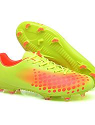 baratos -Homens sapatos Couro Sintético / Couro Ecológico Verão / Inverno Solados com Luzes Tênis Futebol Verde / Azul / Black / azul