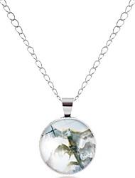 abordables -Homme Femme Adorable Pendentif de collier  -  Asiatique simple Dessin Animé Forme de Cercle Forme Géométrique Argent Bronze Colliers
