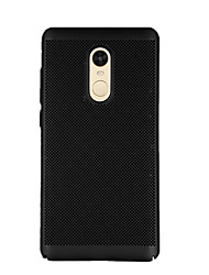 cheap -Case For Xiaomi Redmi Note 4X / Redmi 4X Frosted Back Cover Solid Colored Hard PC for Xiaomi Redmi Note 4X / Xiaomi Redmi Note 4 / Xiaomi Redmi 4A