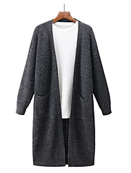 cheap -Men's Daily Going out Solid Peter Pan Collar Cardigan, Long Sleeves Winter Fall Cotton