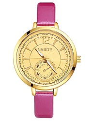 cheap -Women's Wrist watch Chinese Quartz Large Dial PU Band Casual Elegant Colorful Black White Blue Red Brown Pink Purple Rose Sky Blue