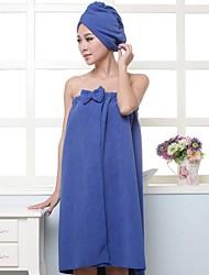abordables -Robe de chambre Pyjamas Femme,Couleur Pleine Epais Coton Polyester Orange Violet Fuchsia Bleu royal