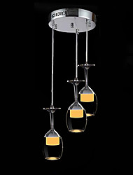 cheap -SL® 3-Light Cluster Pendant Light Ambient Light - LED, 110-120V / 220-240V, Warm White / Cold White, LED Light Source Included / 20-30㎡