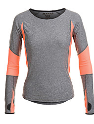 cheap -Jaggad Women's Running Shirt - Gray Sports Tee / T-shirt / Top Yoga, Fitness, Gym Long Sleeve Activewear Quick Dry, Moisture Permeability, Breathable Stretchy / Sweat-wicking