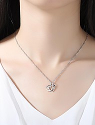 cheap -Women's Silver Pendant Necklace - Simple Elegant Silver Necklace For Wedding Evening Party