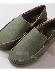 cheap -Men's Shoes Canvas Spring Fall Comfort Loafers & Slip-Ons For Casual Dark Green Khaki Dark Blue