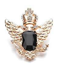 baratos -Mulheres Broches Cristal Clássico Fashion Cristal Liga Formato Coroa Asas / Penas Jóias Para Diário