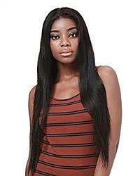 preiswerte -Echthaar 360 Frontal Perücke Brasilianisches Haar Glatt Mit Strähnen 100% Jungfrau Natürlicher Haaransatz Kurz Medium Lang 180% Dichte