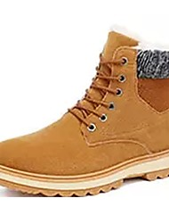 cheap -Men's Shoes Cowhide Winter Combat Boots Boots Mid-Calf Boots For Casual Black Blue Khaki