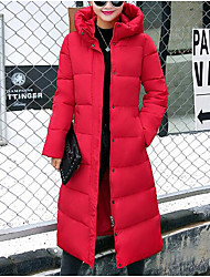 Hot! Fashion Design 6 Colors 2017 Winter Women Parka Outerwear Duck Down Jacket With Large Fur Collar Plus Thickening Long Coat down jacket for girl