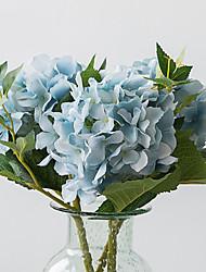 Недорогие -1 Филиал Шелк Гортензии Букеты на стол Искусственные Цветы