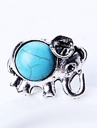 cheap -Men's Turquoise Band Ring - Animal Simple, Cartoon Adjustable Silver For Daily