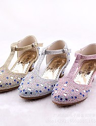 cheap -Girls' Shoes Microfiber Spring / Fall Tiny Heels for Teens Heels for Gold / Silver / Light Purple
