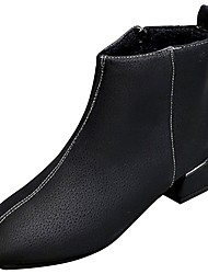 cheap -Women's Shoes Pigskin Winter Fashion Boots Boots Round Toe For Outdoor Black