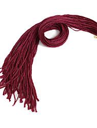 Недорогие -Pre-петлевые вязания крючком плетенки 1шт / уп Косы Box плетенки Афро Новое поступление Африканские косички Синтетические волосы Вино
