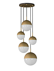 abordables -QINGMING® 5 lumières Grappe Lustre Lumière d'ambiance Finitions Peintes Métal Verre Style mini 110-120V / 220-240V Ampoule non incluse / E26 / E27
