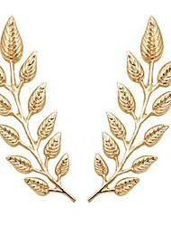 Недорогие -Жен. Броши В форме листа Дамы Классика Мода Брошь Бижутерия Золотой Назначение Повседневные Официальные