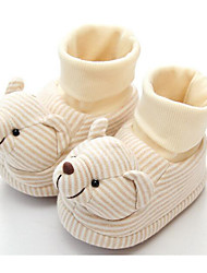Baby Shoes Cotton Fall Winter Comfort First Walkers Boots For Casual Beige White