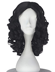cheap -Synthetic Wig Curly Brown Women's Capless Carnival Wig Halloween Wig Party Wig Lolita Wig Natural Wigs Cosplay Wig Short Synthetic Hair