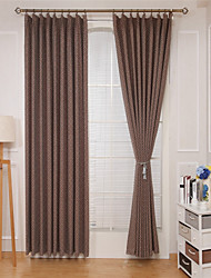 cheap -Rod Pocket Grommet Top Tab Top Double Pleat Curtain Formal Casual Modern, Jacquard Lattice Bedroom Polyester Blend Material Curtains