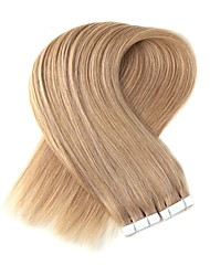 cheap -Tape In Human Hair Extensions 20Pcs/Pack 2.2g/pc Platinum Blonde Strawberry Blonde/Light Blonde Beige Blonde//Bleach Blonde Ash