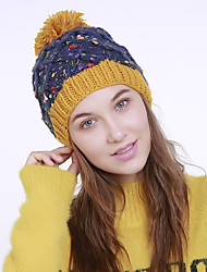 cheap -Women's Acrylic Roman Knit Floppy Hat,Vintage Cute Casual Floral Winter Braided Orange Beige Navy Blue Yellow