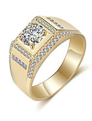preiswerte -Herrn Strass Bandring - Kreisform Retro / Elegant Gold / Silber Ring Für Hochzeit / Party