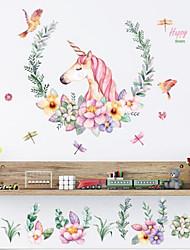 Недорогие -unicorn семейство diy art pvc наклейка на стенах домашний декор наклейка наклейка съемный 60x90см