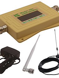 Mini Intelligent LCD Display GSM980 900MHz Mobile Phone Signal Booster Repeater with Outdoor Sucker Antenna / Indoor Whip Antenna Yellow