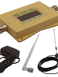 mini intelligent lcd affichage gsm980 900 mhz téléphone portable signal amplificateur répéteur avec extérieur ventouse antenne / intérieur