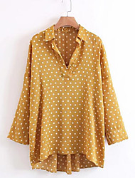cheap -Women's Going out Blouse Print Shirt Collar