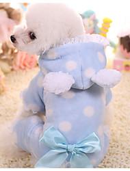 Недорогие -Собака Комбинезоны Одежда для собак Горошек Синий / Розовый Другие материалы Костюм Для домашних животных Муж. / Жен. На каждый день