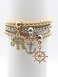 cheap -Women's Chain Bracelet Rhinestone Simple Elegant Alloy Elephant Anchor Jewelry Daily Going out Costume Jewelry Gold
