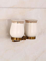 cheap -Archaistic Toothbrush Holders Copper Non Skid Square Memory Foam