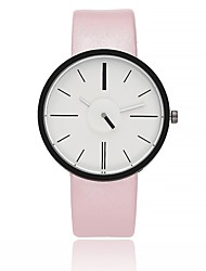 cheap -Women's Casual Watch Fashion Watch Wrist watch Chinese Quartz Large Dial Genuine Leather Band Casual Black White Brown Grey Pink