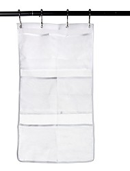 organizador de sacos de armazenamento suspenso no banheiro suporta bolsa de múltiplas bolsas de seis bolsos