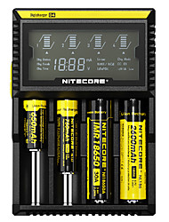 cheap -Nitecore D4 Flashlight Accessories Chargers Smart Power Display for 18650 14500 18650