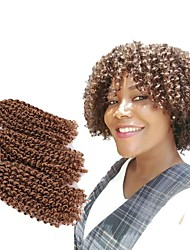 Pre-loop Crochet Braids 3pcs/pack Hair Braid Crochet Curly Bouncy Curl Island Twist Jamaican Bounce Hair Synthetic Hair Black/Strawberry Blonde