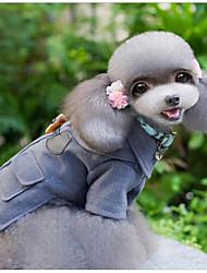 abordables -Gato Perro Abrigos Ropa para Perro Un Color Británico Gris Tejido de lana Disfraz Para mascotas Casual/Diario Mantiene abrigado