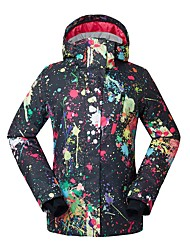 cheap -GSOU SNOW Women's Ski Jacket Warm, Waterproof, Windproof Skiing / Ski / Snowboard Eco-friendly Polyester, Silk Cloth Down Jacket Ski Wear