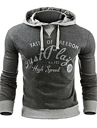 cheap -Men's Daily Sports Holiday Hoodie Solid Print Hooded Hoodies Micro-elastic Cotton Long Sleeves Winter Autumn/Fall